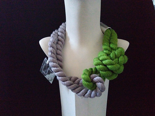 Lauren Taylor Big Cord Green Necklace