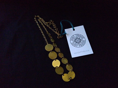 Just Trade Natural Brass Necklace