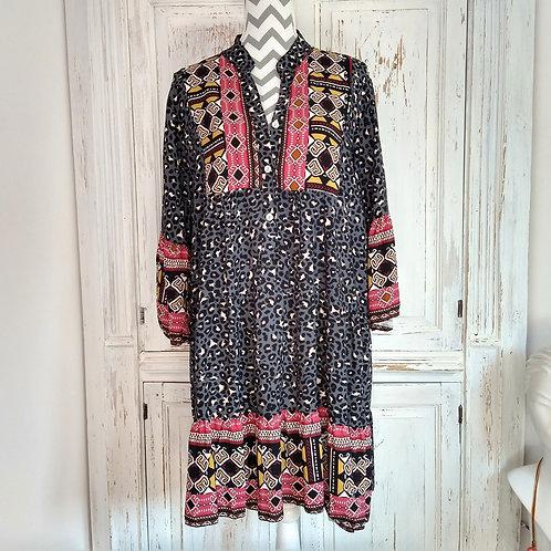 Mix Print Gypsy Style Dress