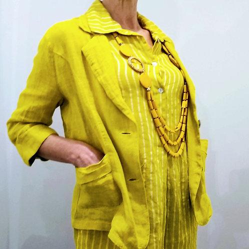Pomodoro Plain Linen Jacket