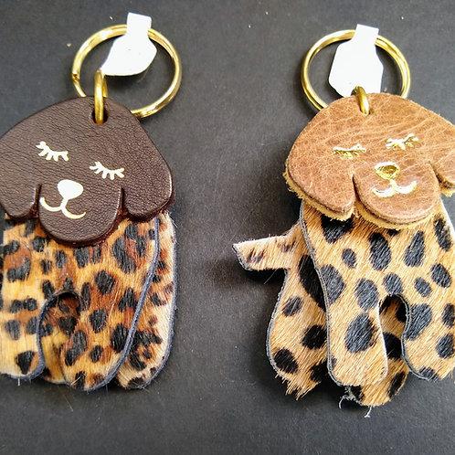 Leather Dog Key Rings