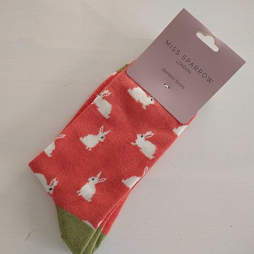 Miss Sparrow Rabbit Socks