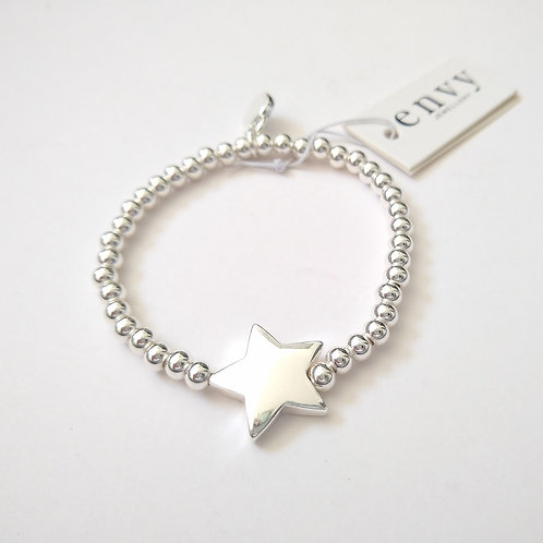 Envy Silver Star Bracelet