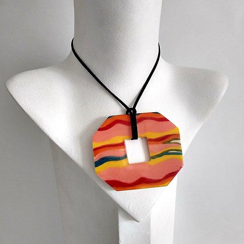 Wave Pattern Mix Colour Necklace