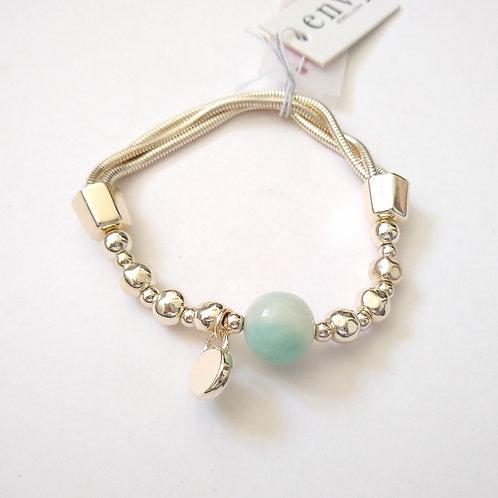 Envy grey bead bracelet