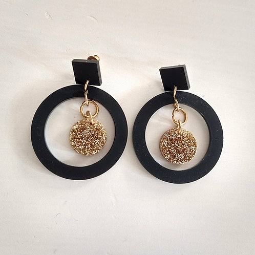 Toolally Circle Eclipse Earrings