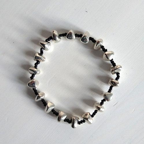 Etnika Silver Nugget Stretch Bracelet