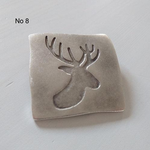 Hatti Metal Brooch No 8