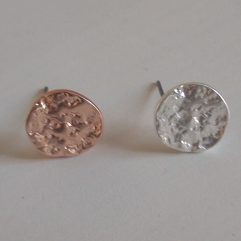 Textured Gold or Silver Studs