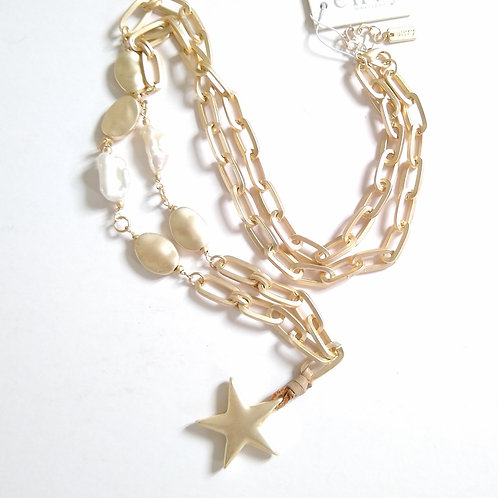 Star and Pearls on Big Chain.