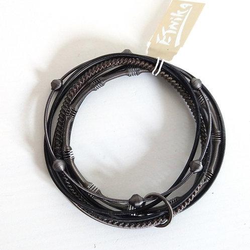 Etnika Black Metal Coil Bracelet