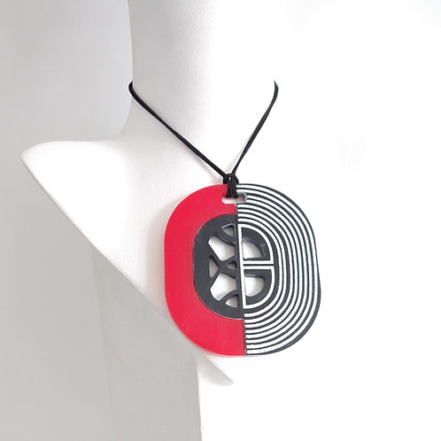 Acrylic Adjustable Aztec Necklace