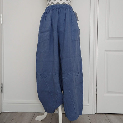 Mid Weight Linen Balloon Trousers with Pockets