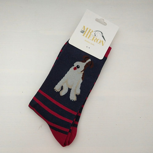 Mr Heron Fox Terrier Socks