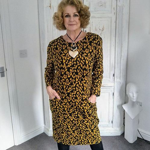 Poodoro Leopard Jacquard Dress