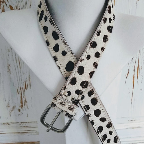 Cheetah Spot Faux fury Leather Belt