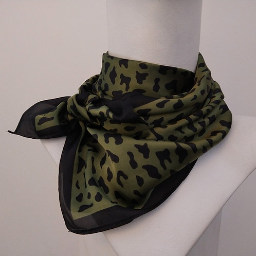 Tempest Green Silky Square Scarf