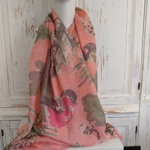 Powder Spring Bird Scarf