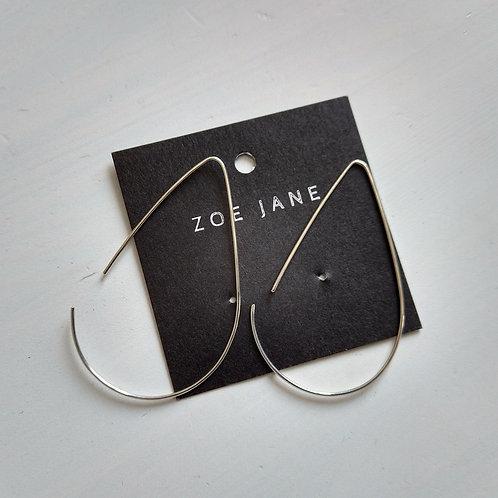 Kite Shape Silver Earrings