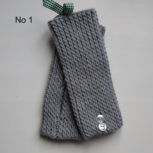 Lindy Lou Shades of Grey and Black Wrist Warmers