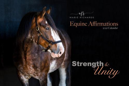 2021 Equine Affirmations Wall Calendar