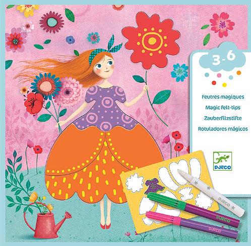 DJECO - Marie's pretty dresses, Magic felt tips