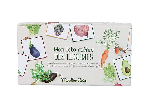 Moulin Roty - Vegetable loto memory game