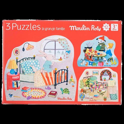 Moulin Roty- puzzle La Grande Famille