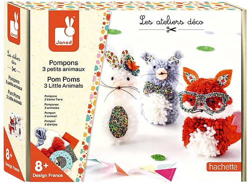 Janod - Pom Poms 3 little animals