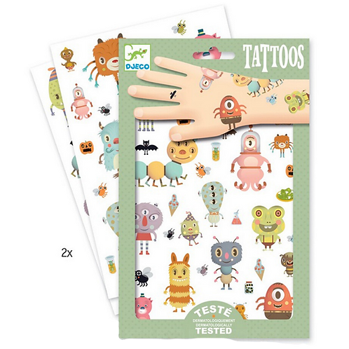 Djeco - Tattoos monsters