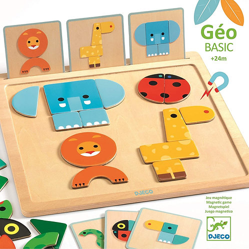 Djeco - Geobasic wooden magnetic puzzle