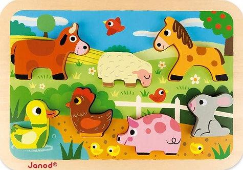 Janod - Farm chunky puzzle