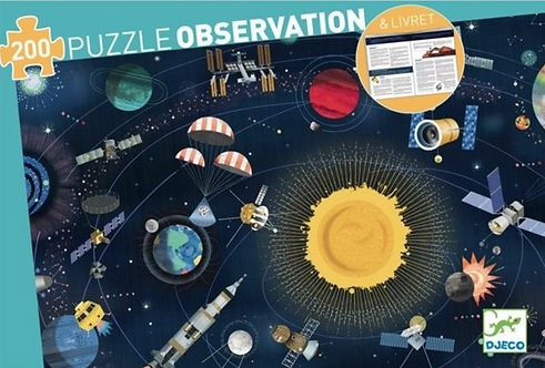 DJECO- Space +booklet observation puzzle