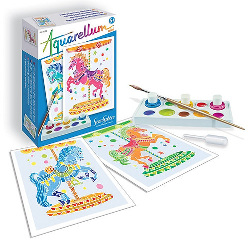 Sentosphère - Horses Mini Aquarellum