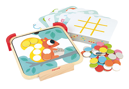 JANOD - I am learning colors - Magnetic chips - Wooden toy