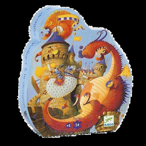Djeco -Vaillant and the Dragon Silouhette