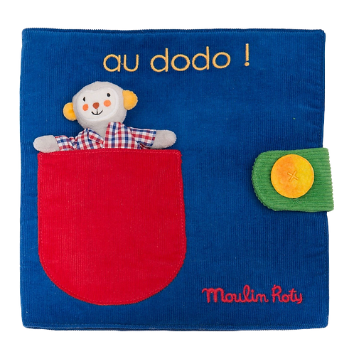 Moulin Roty - Fabric activity book  - Off to bed !