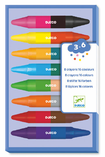 Djeco - 8 twin crayons