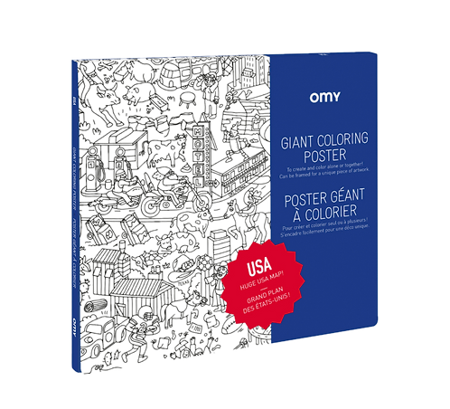 Omy - Giant Coloring Poster - USA