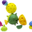 Thumbnail: Lalaboom 3 Large Sensory Balls and 12 Piece Baby Toddler Beads