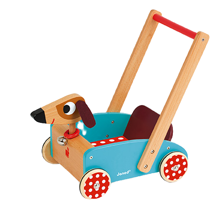 JANOD - Crazy doggy cart - Wooden toy