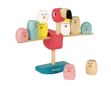JANOD - Zigolos balancing game - Flamingo - Wooden toy