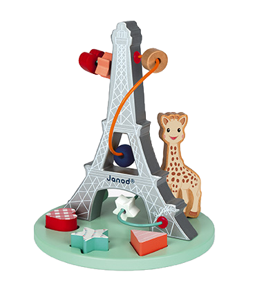 JANOD - Sophie la girafe bead maze - Wooden toy