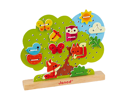 JANOD - Lace-up tree - Wooden toy