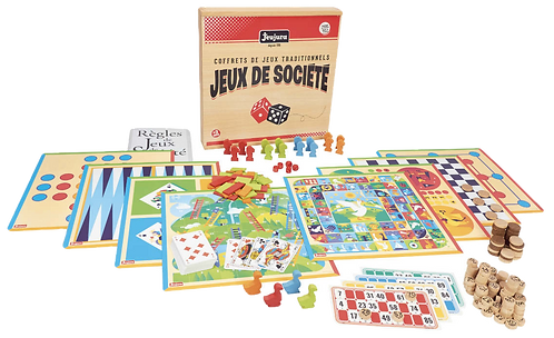 Jeujura - Coffret de jeux de société traditionnels Made in France