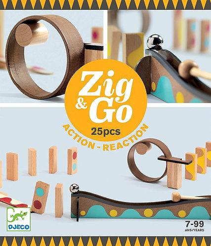 Djeco - Zig & Go - 25 pieces