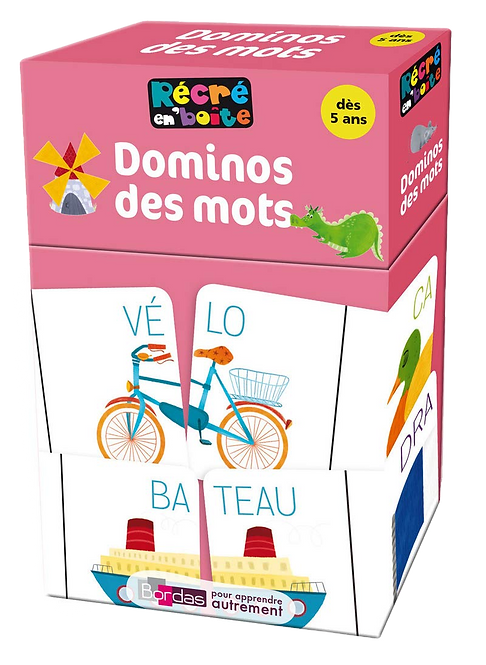 Bordas - Carte domino des mots