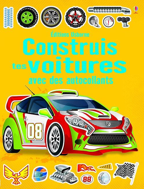 Usborne - Construis tes voitures avec des autocollants