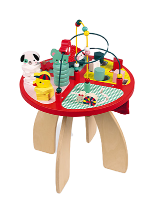 JANOD - Baby forest activity table - Wooden toy