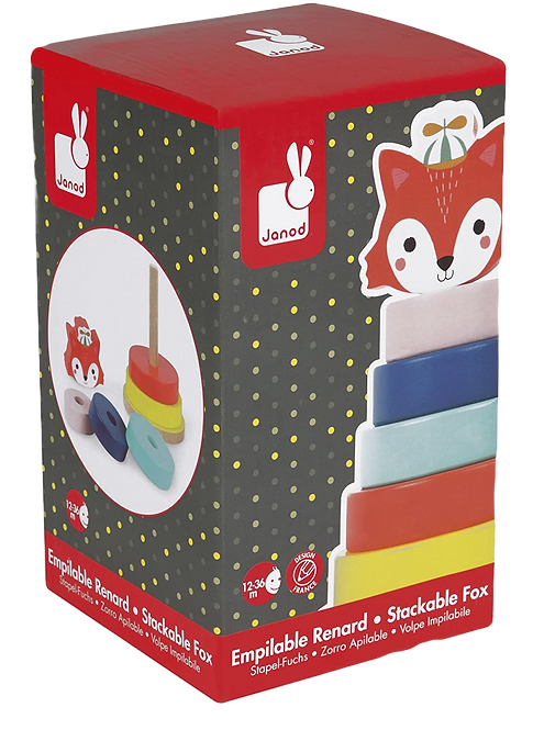 Janod - Baby forest fox stacker